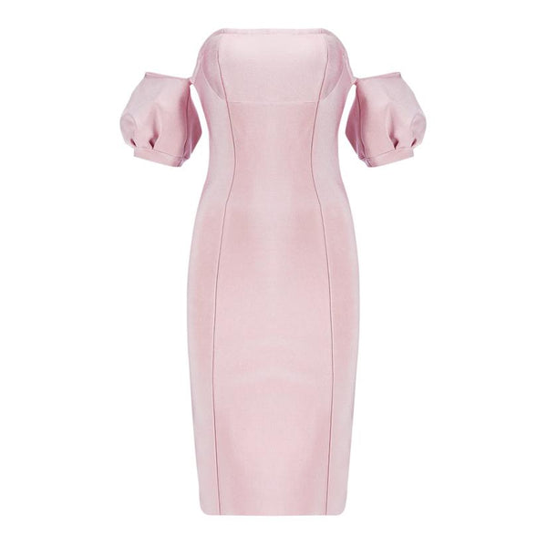 Peggy off-shoulder bandage Dress Lovefreya.co XS Pink