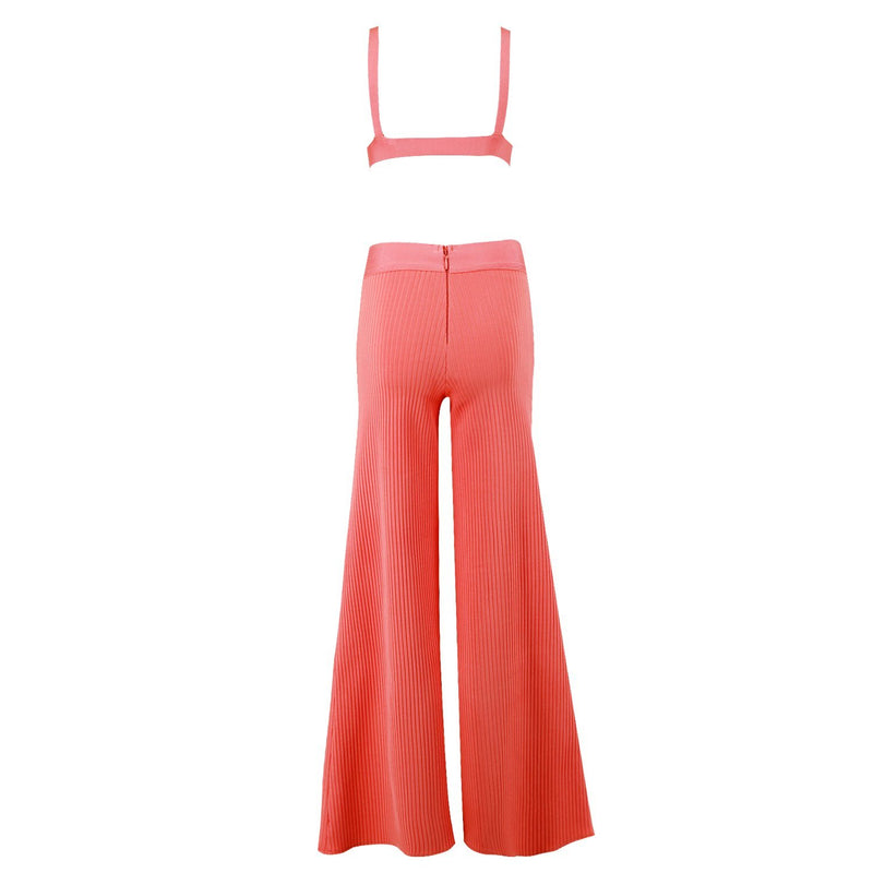 Ribbed 2 piece bandage Jumpsuit Lovefreya.co