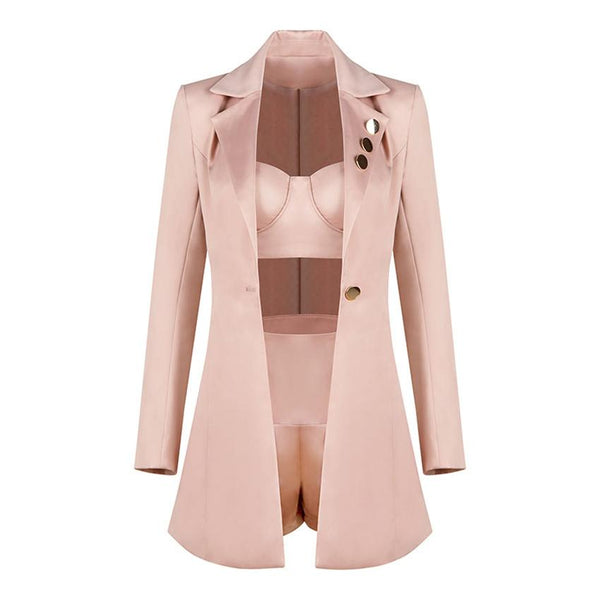 Satin 3 piece suit Suit lovefreya.co