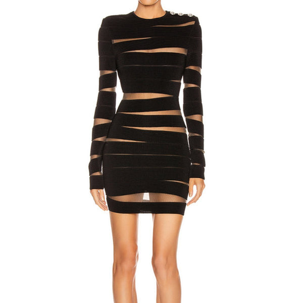 Savannah long sleeve bandage Dress Lovefreya Pte Ltd