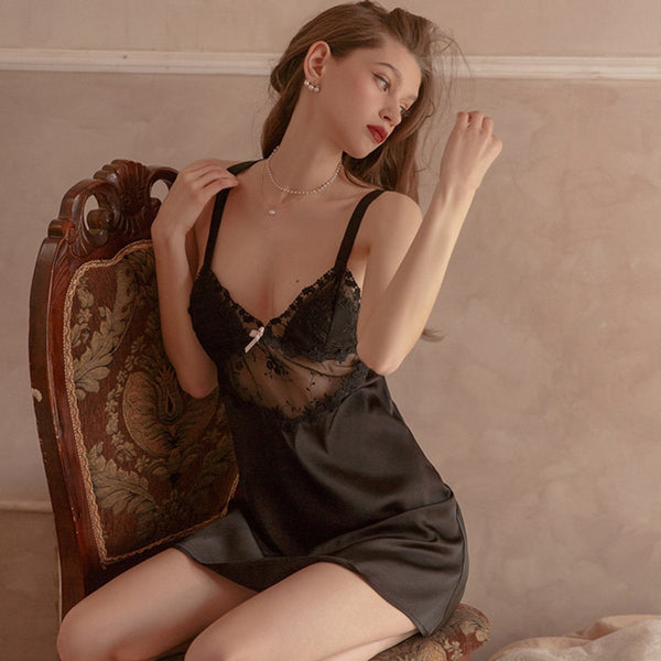 Saxa satin slip Intimates LOVEFREYA S Black