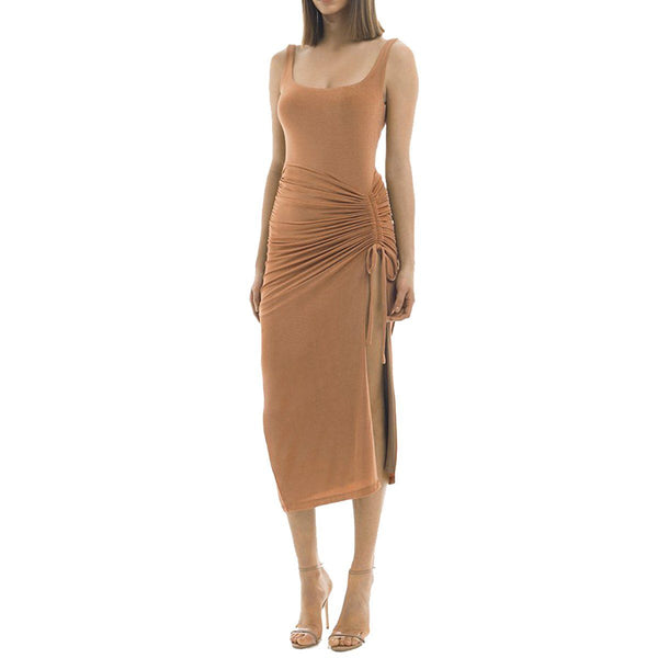 Shandi high slit dress Dress Lovefreya Pte Ltd