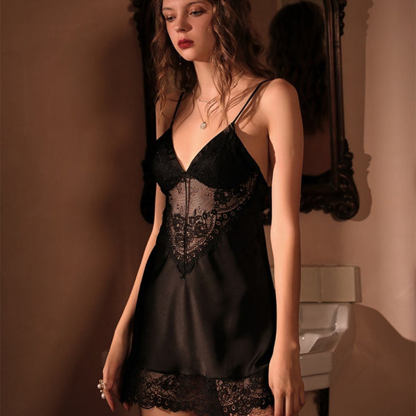 Shea satin slip Intimates LOVEFREYA S Black