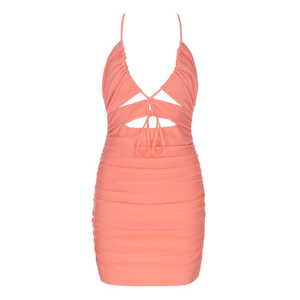 Shia bandage dress Dress Lovefreya Pte Ltd XS Salmon