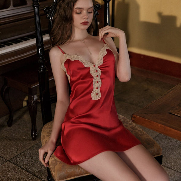 Shilton satin slip Intimates LOVEFREYA S Red