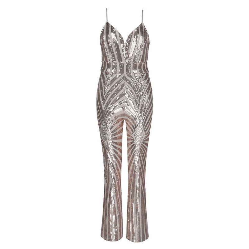Shira sequin jumpsuit Jumpsuit Lovefreya.co