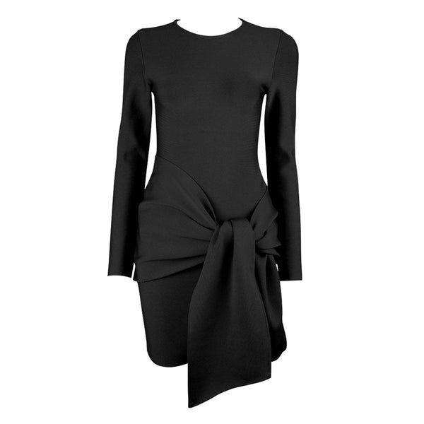 Simple long sleeve bandage Dress Lovefreya.co XS Black