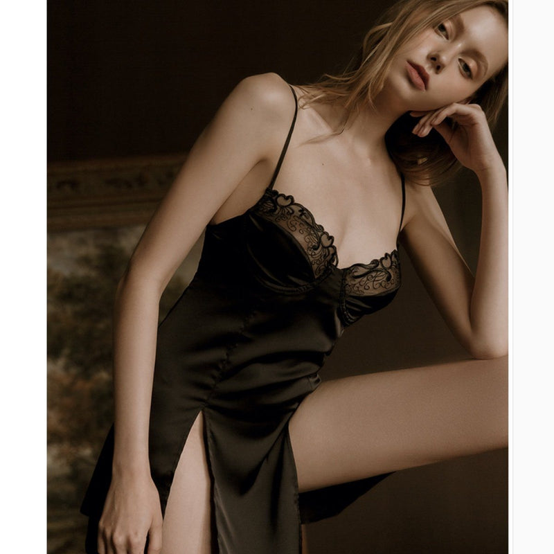 Sonja satin slip Intimates LOVEFREYA S Black