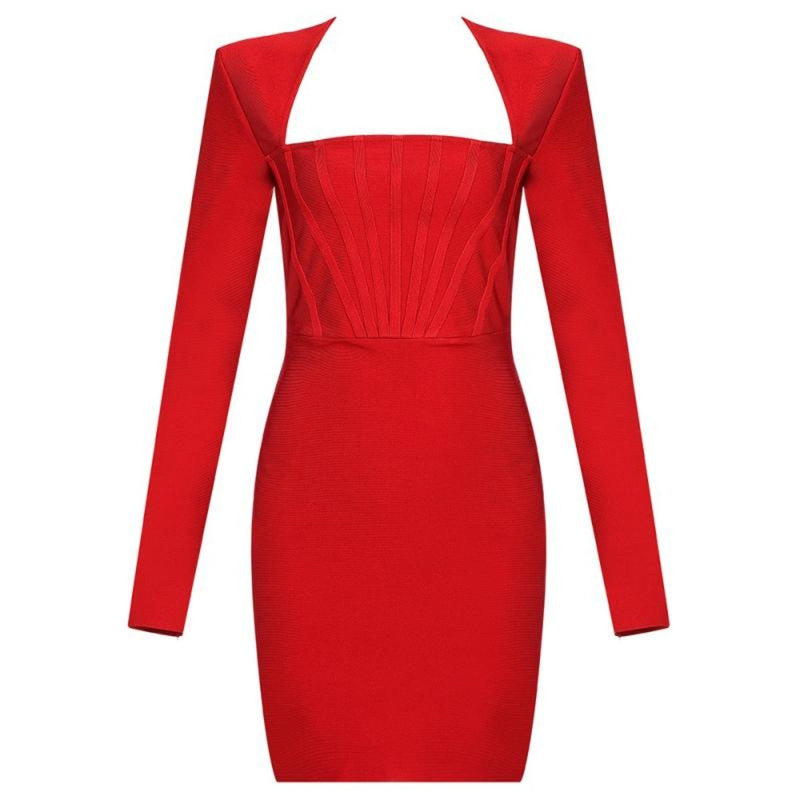Spence long sleeve bandage Dress LOVEFREYA