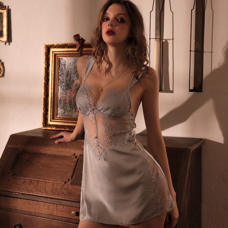 Swannel satin slip set Intimates LOVEFREYA