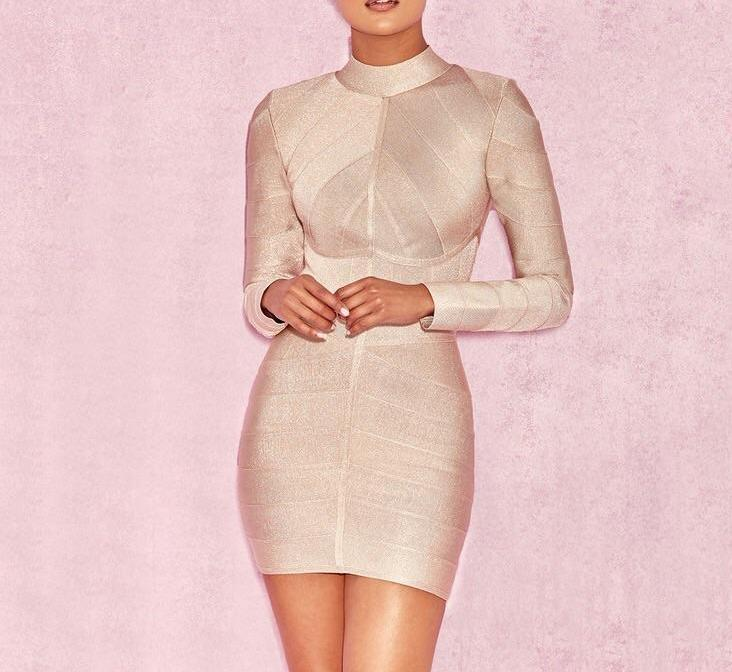 Vanilla Long sleeve Bandage Dress lovefreya.co