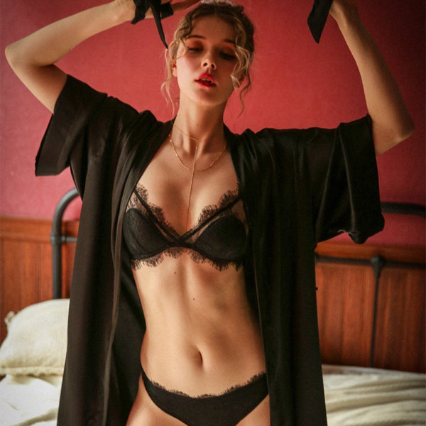 Viva satin robe Intimates Lovefreya Pte Ltd