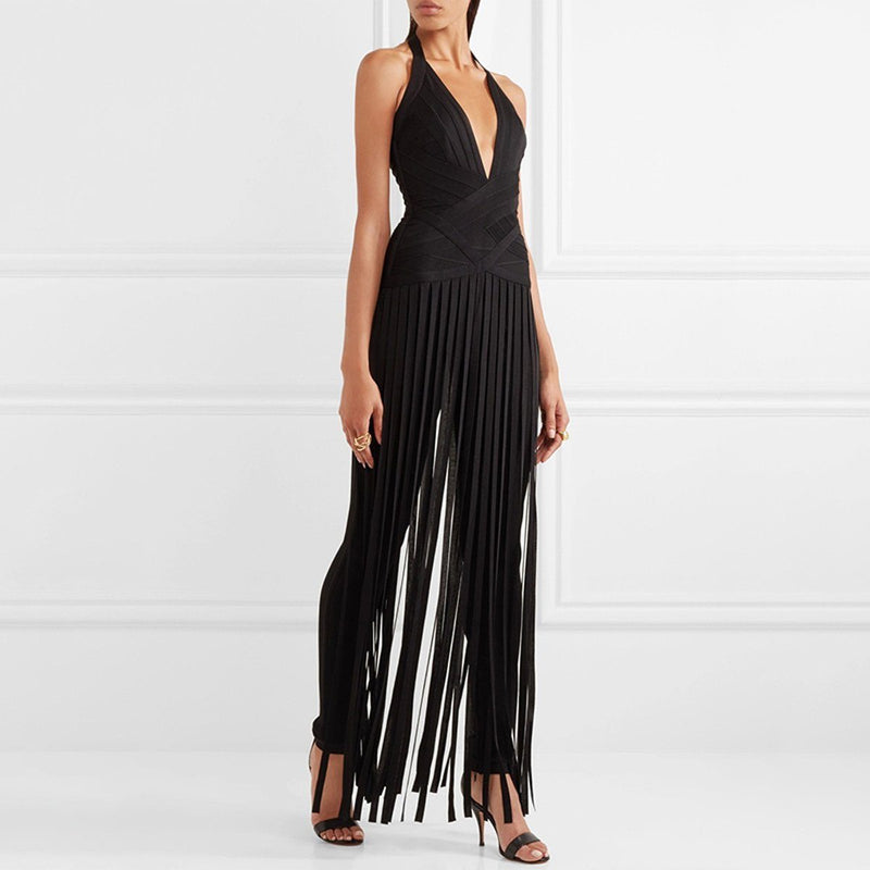 Winnie fringe jumpsuit Jumpsuit Lovefreya.co