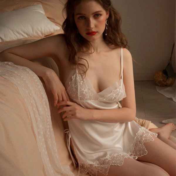 Wynda satin slip Intimates Lovefreya Pte Ltd S White