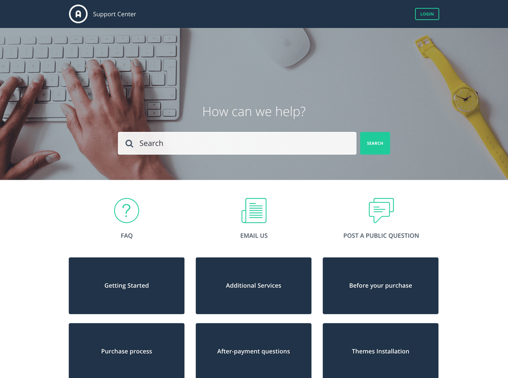 Desk themes premium support center templates and design desk theme fraser pronofoot35fo Images