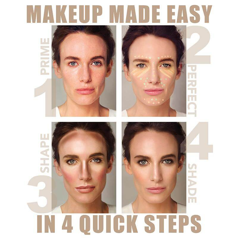 MAKE UP MADE EASY; 4 SIMPLE STEPS AGELESS BEAUTY
