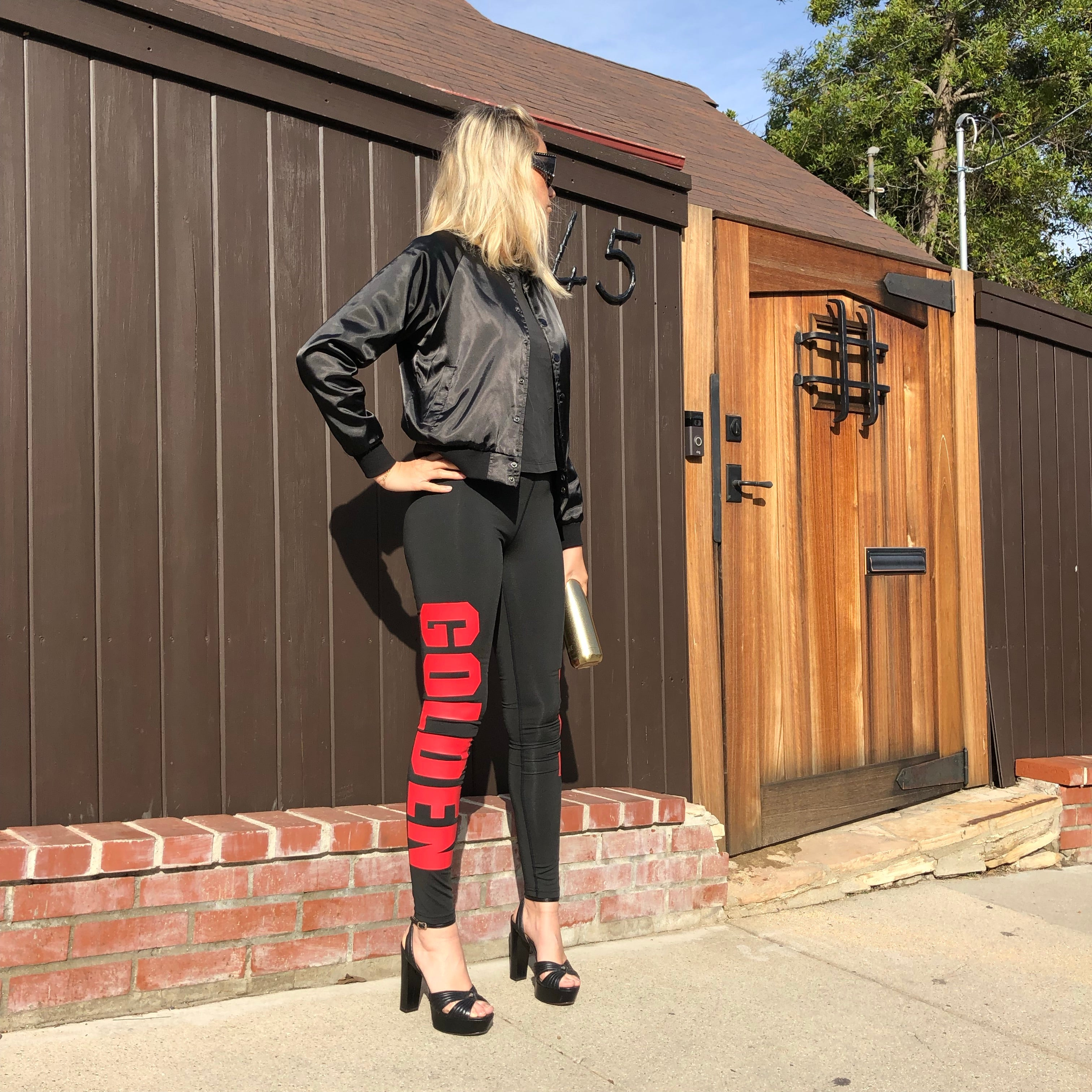 LEGGINS - Black / Red