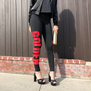 LEGGINGS - Black / Red