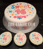 16th Birthday Sweet 16 Edible Icing Cake Topper 02