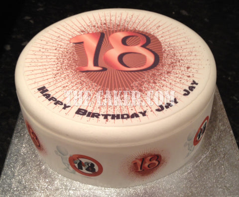18th Birthday Edible Icing Cake Topper 01