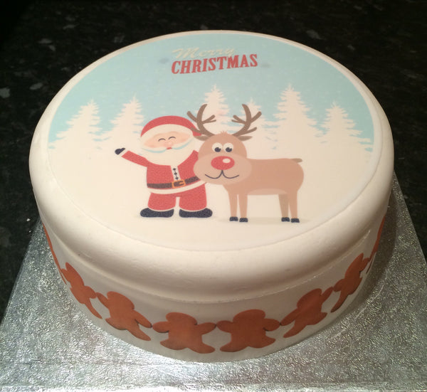 Christmas Edible Icing Cake Topper 19