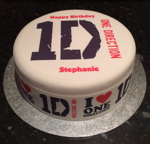 One Direction 1D Edible Icing Cake Topper 01