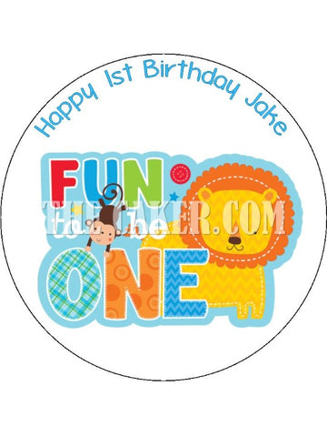01 1st Birthday Edible Icing Cake Topper 06