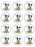 01 1st Birthday Mickey Mouse Edible Icing Cake Topper