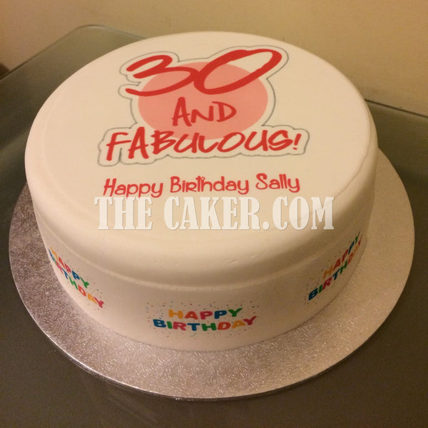 30th Birthday Fabulous Edible Icing Cake Topper 05