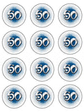 50th Birthday Edible Icing Cake Topper 01