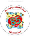 85th Birthday Unisex Edible Icing Cake Topper 02
