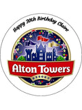 Alton Towers Edible Icing Cake Topper