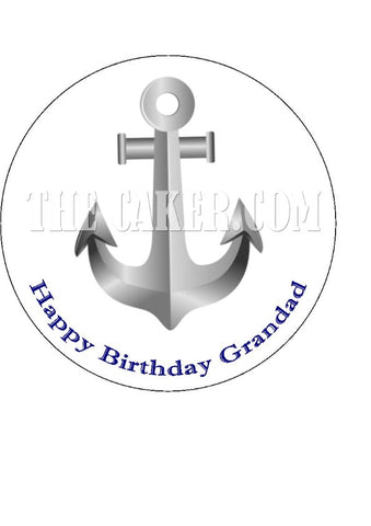 Anchor Edible Icing Cake Topper