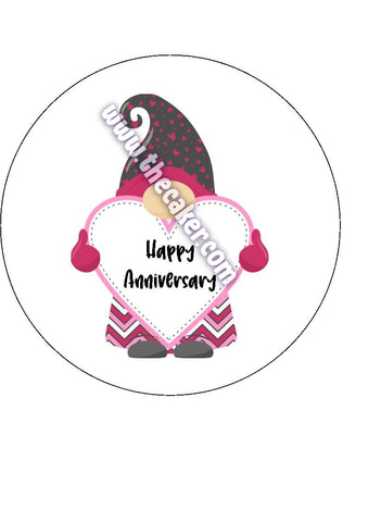 Anniversary 02 Edible Icing Cake Topper