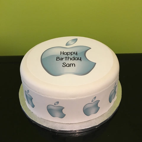Apple Logo Edible Icing Cake Topper