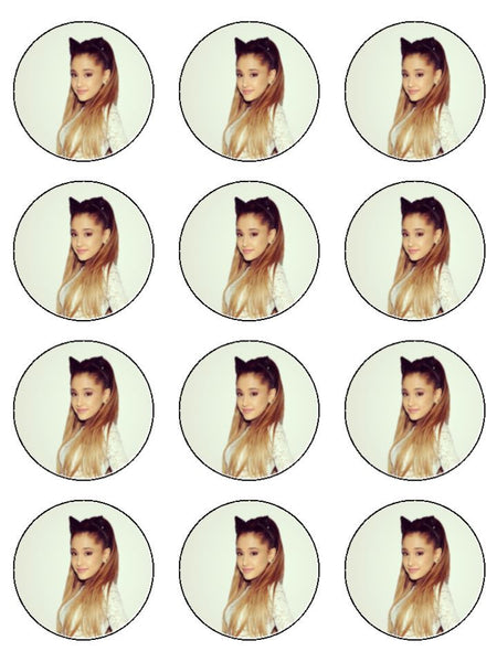 Ariana Grande Edible Icing Cake Topper 02 The Caker Online