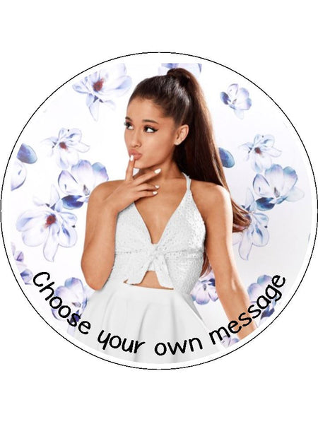 Ariana Grande Edible Icing Cake Topper 03 The Caker Online