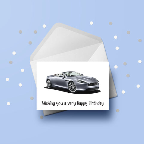 Aston Martin Car 02 Card