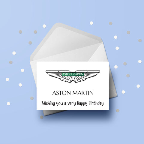 Aston Martin Logo Card