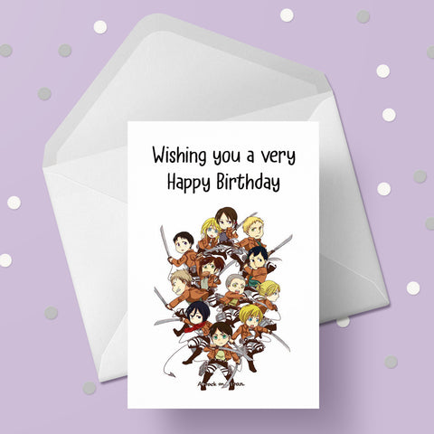 Attack on Titan Greeting Card 04
