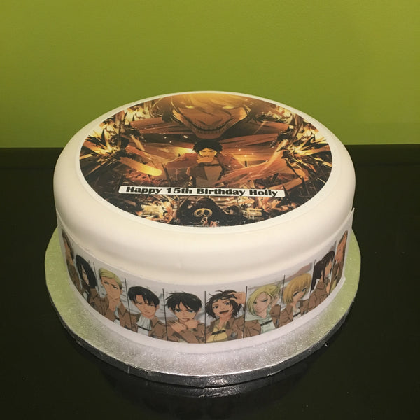 Attack On Titan Edible Icing Cake Topper 02 The Caker Online