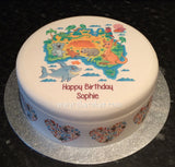 Australia Animals Map Edible Icing Cake Topper