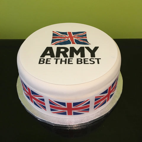 Army Be The Best Edible Icing Cake Topper