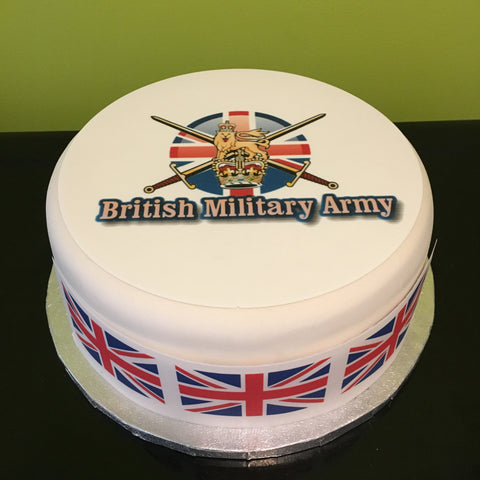 BMA British Military Army Logo Edible Icing Cake Topper