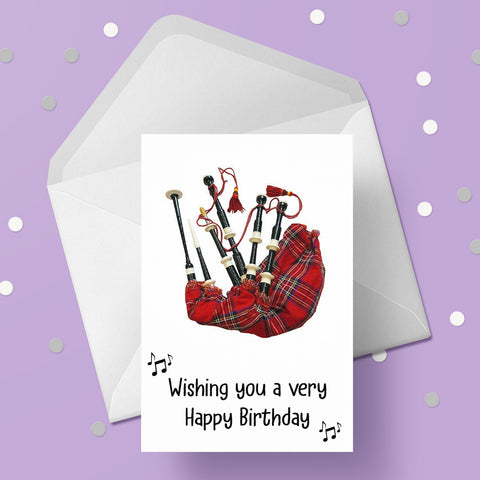 Bagpipes 02 Card
