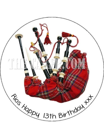 Bagpipes Edible Icing Cake Topper 02