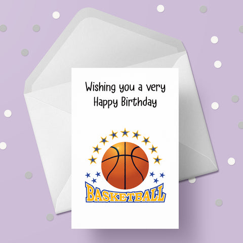 Basketball  Greeting Card 01