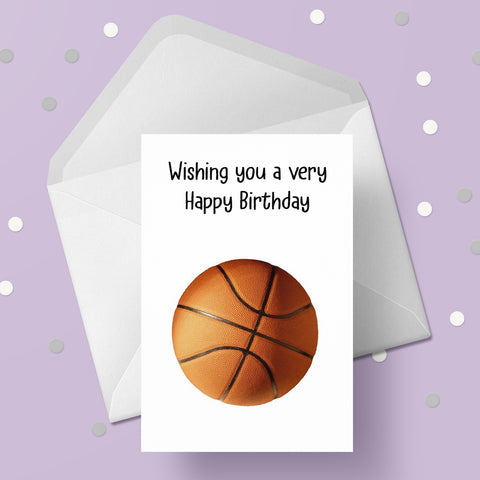 Basketball  Greeting Card 02