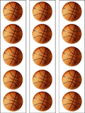 Basketball Edible Icing Cake Topper 01