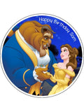 Beauty & The Beast Edible Icing Cake Topper